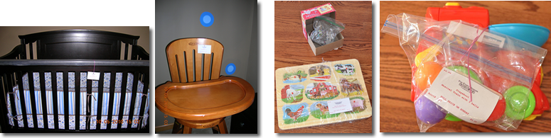 Fall Consignment Toys, Baby Equipment and Juvenile Furniture